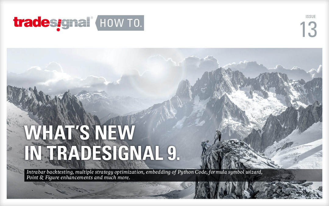 TRADESIGNAL HOW TO 13.  WHAT`S NEW IN TRADESIGNAL 9.